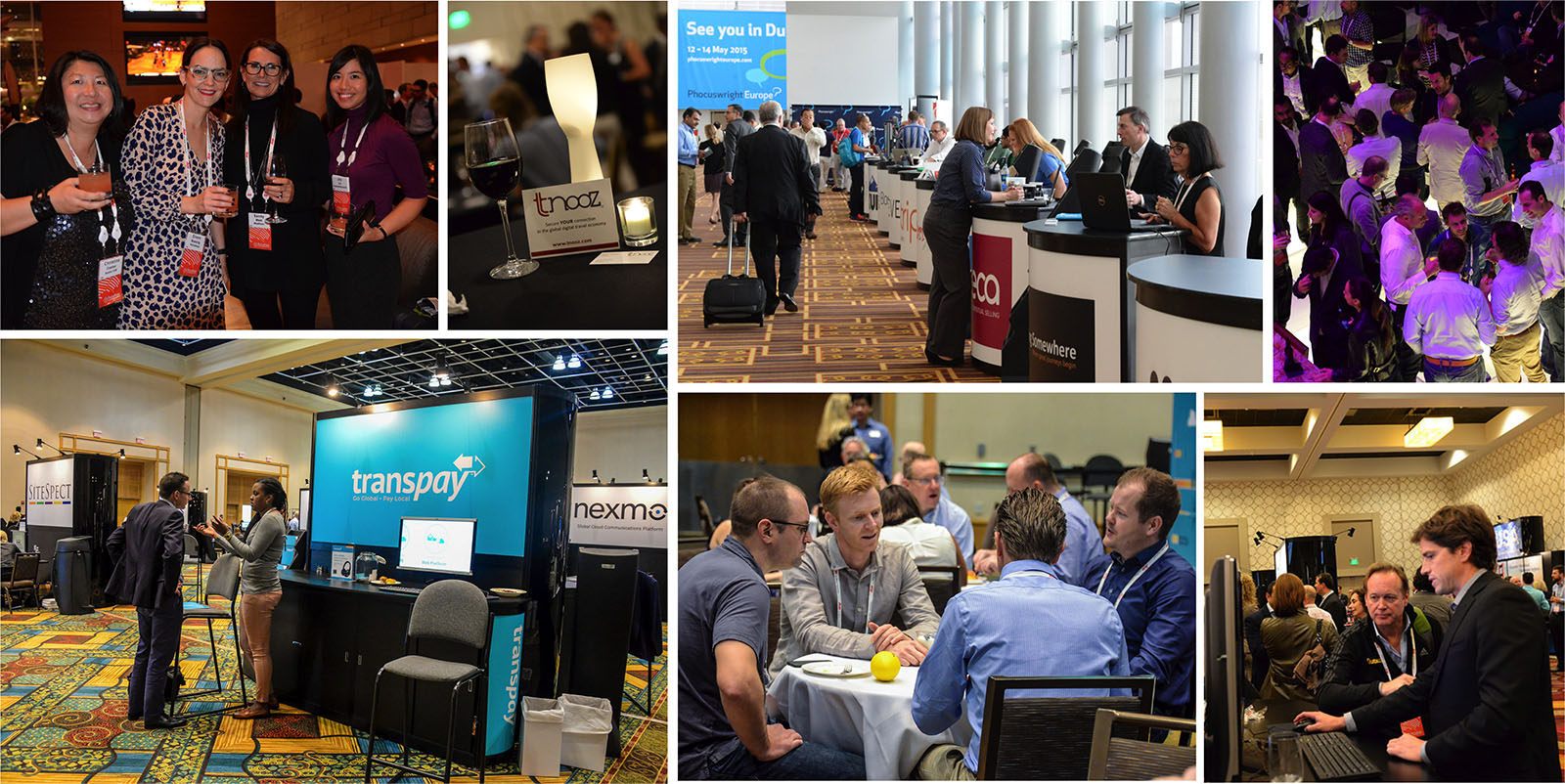 Sponsor and Exhibit Collage at Phocuswright